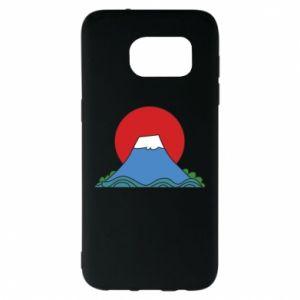 Etui na Samsung S7 EDGE Volcano on sunset background