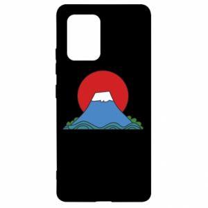 Etui na Samsung S10 Lite Volcano on sunset background