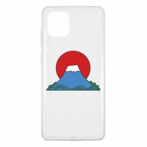 Etui na Samsung Note 10 Lite Volcano on sunset background