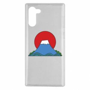 Etui na Samsung Note 10 Volcano on sunset background