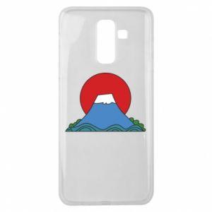 Etui na Samsung J8 2018 Volcano on sunset background