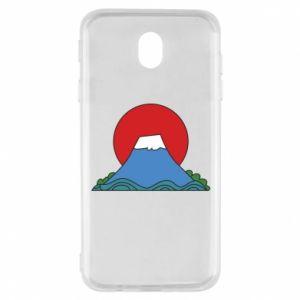 Etui na Samsung J7 2017 Volcano on sunset background