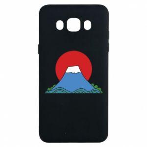 Etui na Samsung J7 2016 Volcano on sunset background