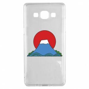 Etui na Samsung A5 2015 Volcano on sunset background