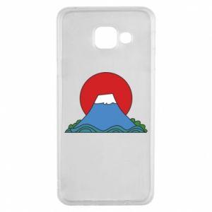 Etui na Samsung A3 2016 Volcano on sunset background