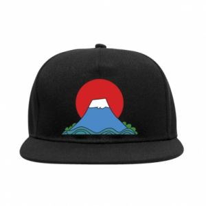 SnapBack Volcano on sunset background - PrintSalon