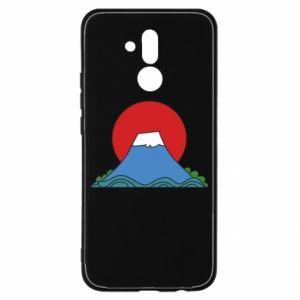 Etui na Huawei Mate 20 Lite Volcano on sunset background