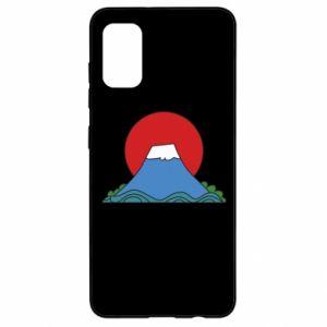 Etui na Samsung A41 Volcano on sunset background