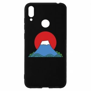 Etui na Huawei Y7 2019 Volcano on sunset background