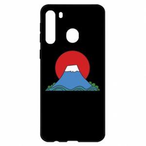 Etui na Samsung A21 Volcano on sunset background
