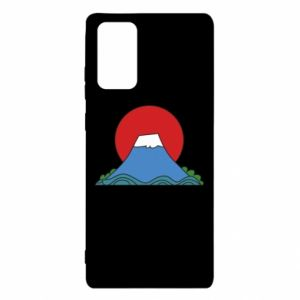 Etui na Samsung Note 20 Volcano on sunset background