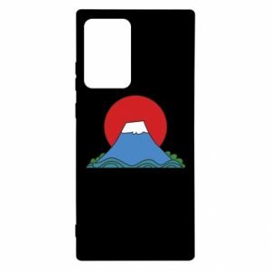 Etui na Samsung Note 20 Ultra Volcano on sunset background