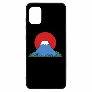 Etui na Samsung A31 Volcano on sunset background