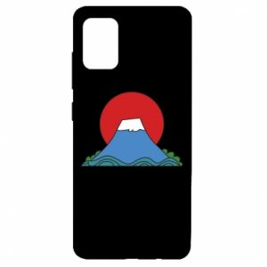 Etui na Samsung A51 Volcano on sunset background