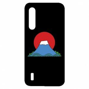 Etui na Xiaomi Mi9 Lite Volcano on sunset background