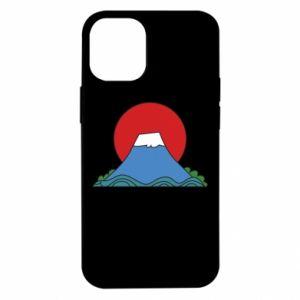 Etui na iPhone 12 Mini Volcano on sunset background
