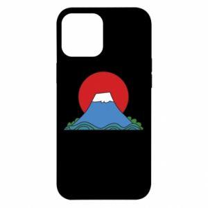 Etui na iPhone 12 Pro Max Volcano on sunset background