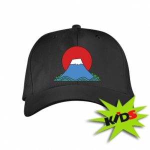 Kids' cap Volcano on sunset background - PrintSalon