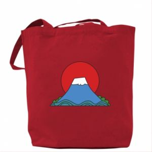 Bag Volcano on sunset background - PrintSalon