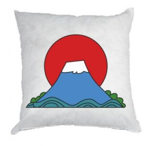 Pillow Volcano on sunset background - PrintSalon