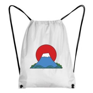 Backpack-bag Volcano on sunset background - PrintSalon