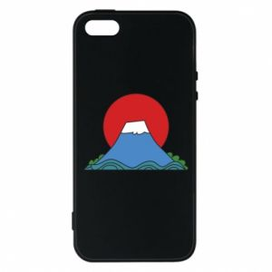 Etui na iPhone 5/5S/SE Volcano on sunset background