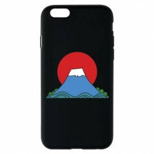 Etui na iPhone 6/6S Volcano on sunset background