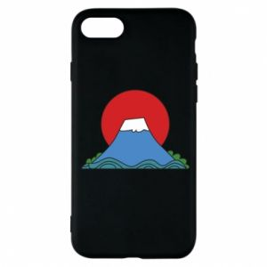 Etui na iPhone 7 Volcano on sunset background