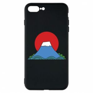Etui na iPhone 7 Plus Volcano on sunset background
