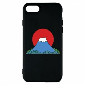 Etui na iPhone 8 Volcano on sunset background