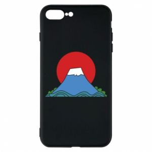 Etui na iPhone 8 Plus Volcano on sunset background