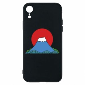 Etui na iPhone XR Volcano on sunset background