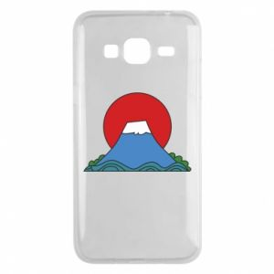 Etui na Samsung J3 2016 Volcano on sunset background