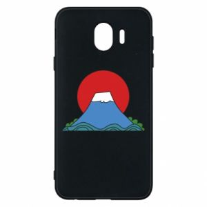 Etui na Samsung J4 Volcano on sunset background