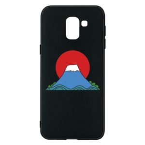 Etui na Samsung J6 Volcano on sunset background