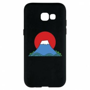 Etui na Samsung A5 2017 Volcano on sunset background