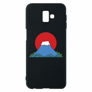Etui na Samsung J6 Plus 2018 Volcano on sunset background