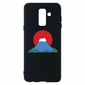 Etui na Samsung A6+ 2018 Volcano on sunset background