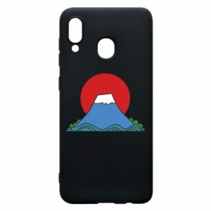Etui na Samsung A20 Volcano on sunset background