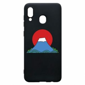 Etui na Samsung A30 Volcano on sunset background