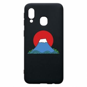 Etui na Samsung A40 Volcano on sunset background