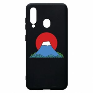 Etui na Samsung A60 Volcano on sunset background