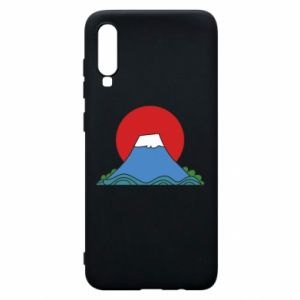Etui na Samsung A70 Volcano on sunset background