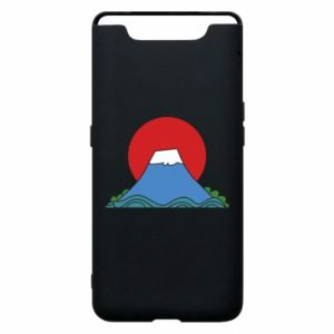 Etui na Samsung A80 Volcano on sunset background