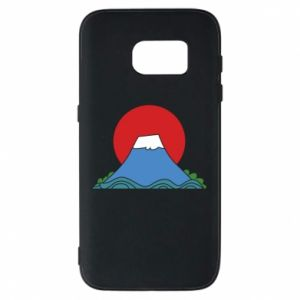 Etui na Samsung S7 Volcano on sunset background