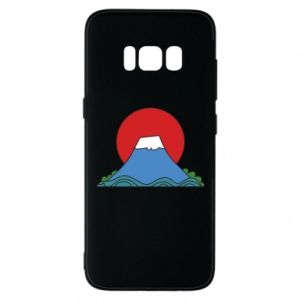 Etui na Samsung S8 Volcano on sunset background