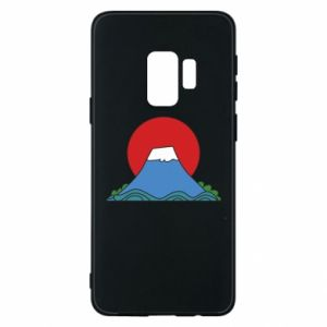 Etui na Samsung S9 Volcano on sunset background