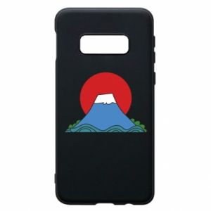 Etui na Samsung S10e Volcano on sunset background