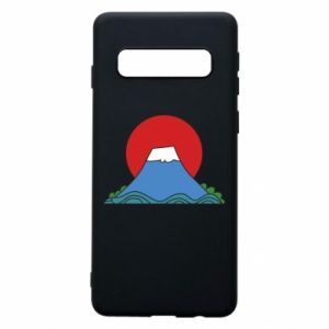 Etui na Samsung S10 Volcano on sunset background