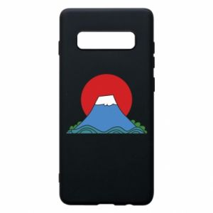 Etui na Samsung S10+ Volcano on sunset background